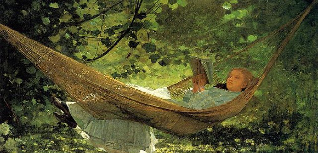 "Winslow Homer painting, ""In The Hammock"""